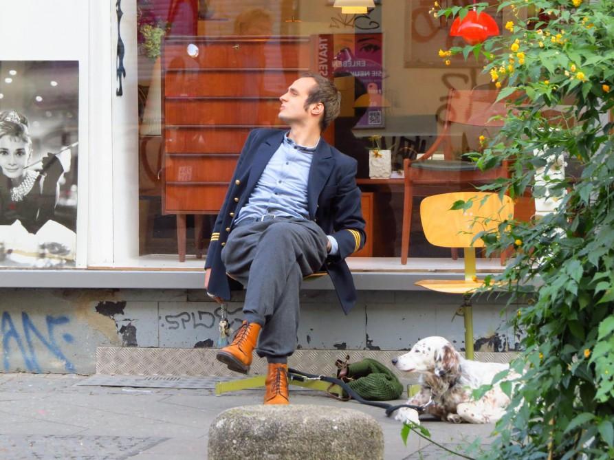 Original Hipster und Dekohund, Kreuzberg