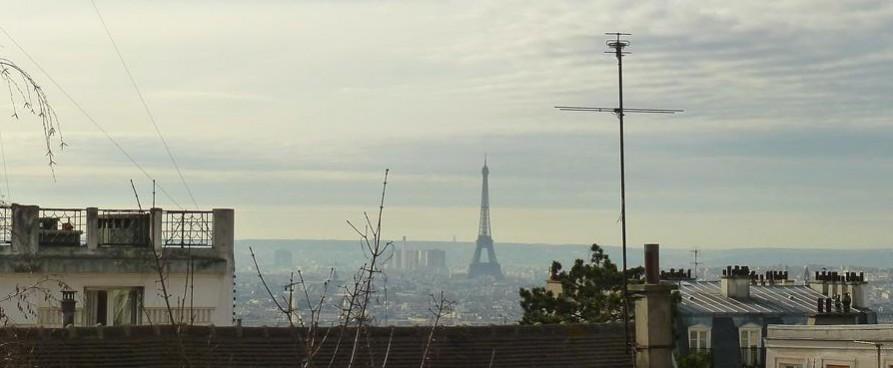 Montmartre: Blick auf Paris