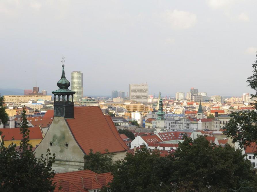 Blick über die Altstadt von Bratislava