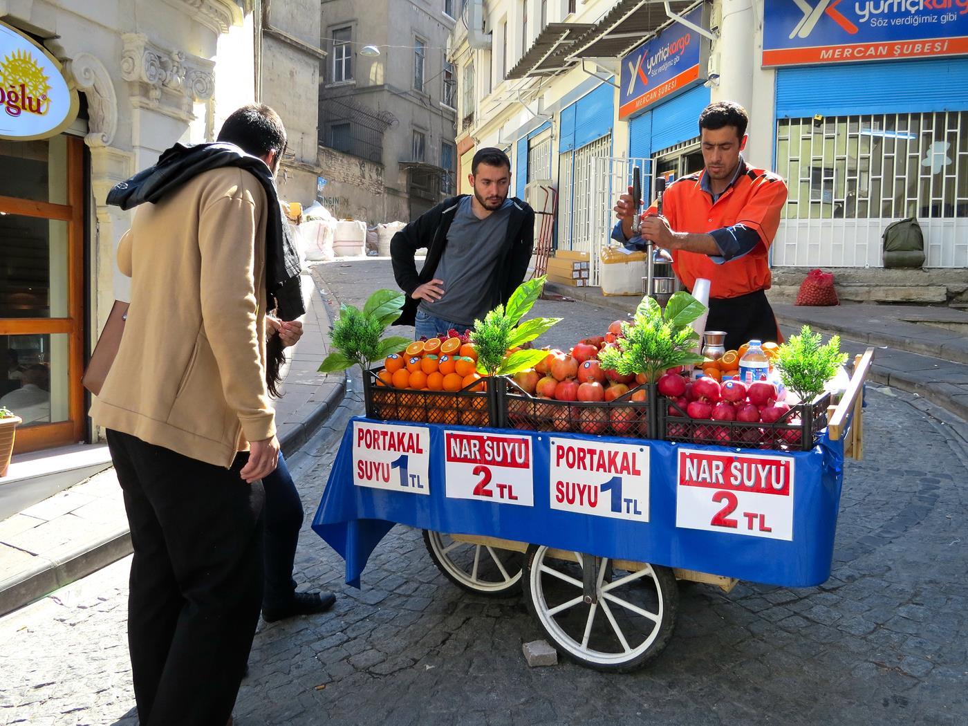 Granatapfelsaft in Istanbul