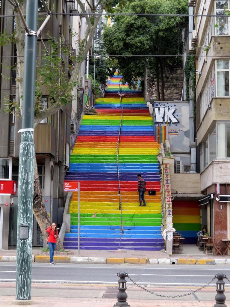 Regenbogentreppe, Karaköy, Istanbul