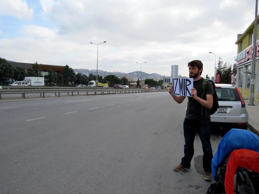 trampen in Istanbul