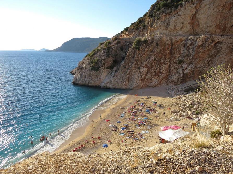 Kaputaş-Bucht, der Lykische Weg, Türkei