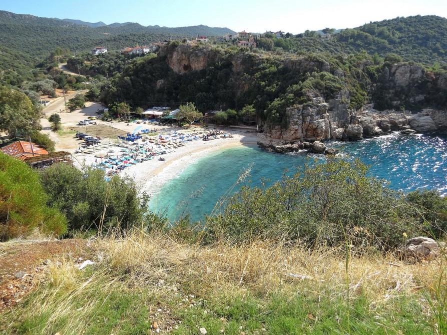 großer Strand bei Kaş, der Lykische Weg, Türkei