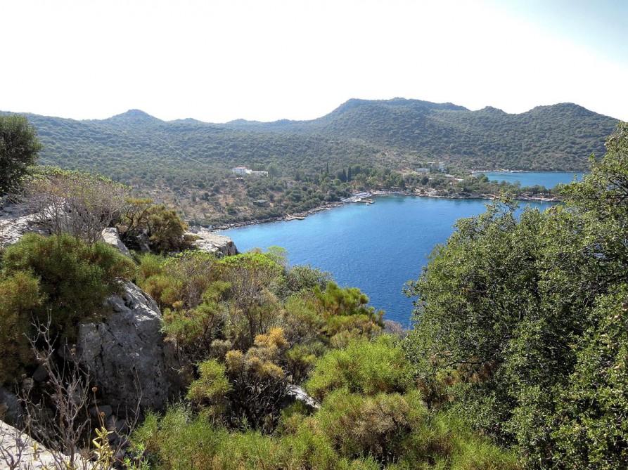 Bucht von Liman Ağazi, der Lykische Weg, Türkei