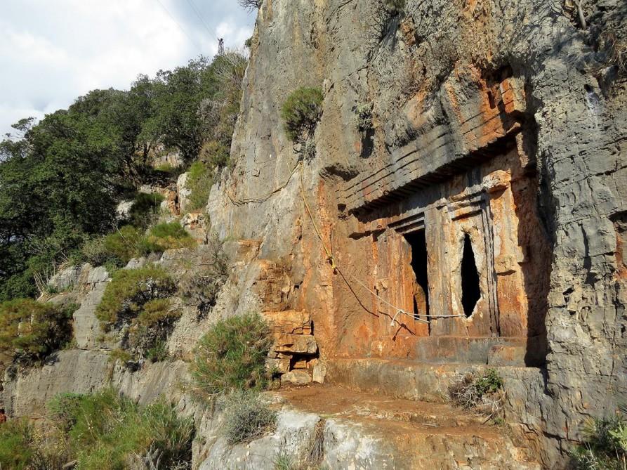 lykisches Felsengrab, der Lykische Weg, Türkei