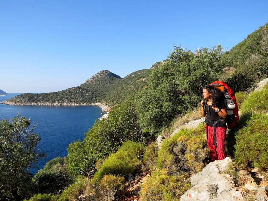 Aussicht über das Mittelmeer, der Lykische Weg, Türkei