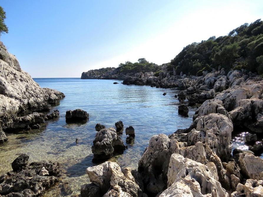 Badebucht, der Lykische Weg, Türkei
