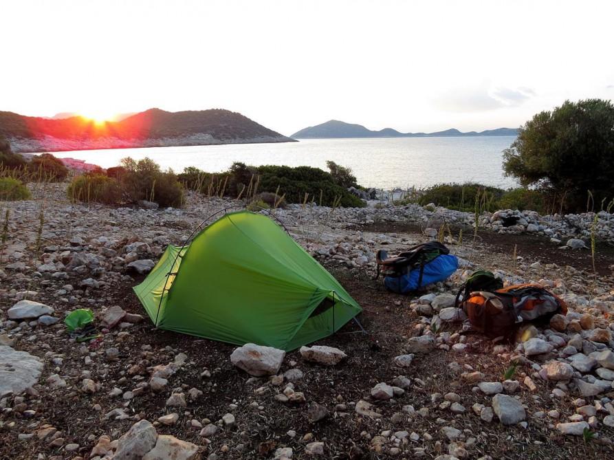 5. Zeltplatz, der Lykische Weg, Türkei