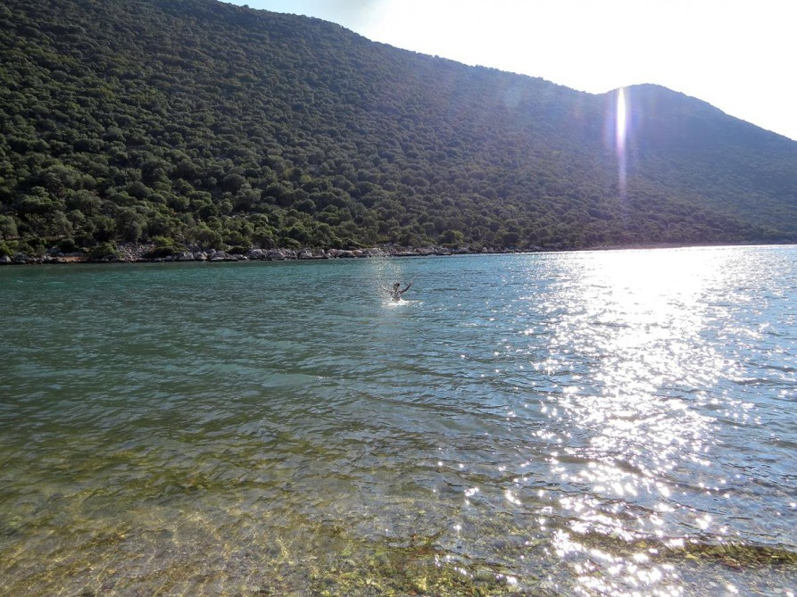 Badepause, der Lykische Weg, Türkei
