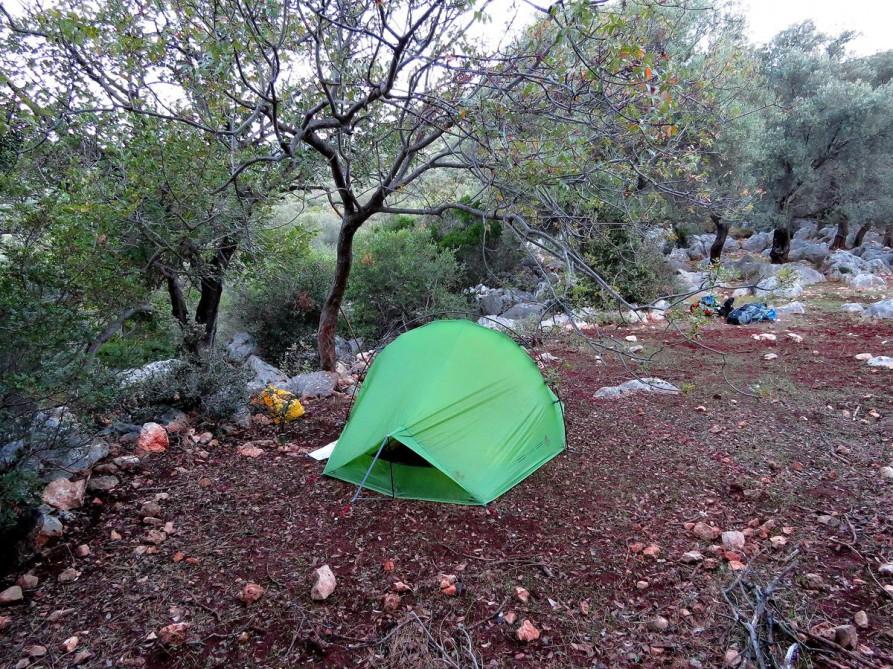 unser 6. Zeltplatz, der Lykische Weg, Türkei