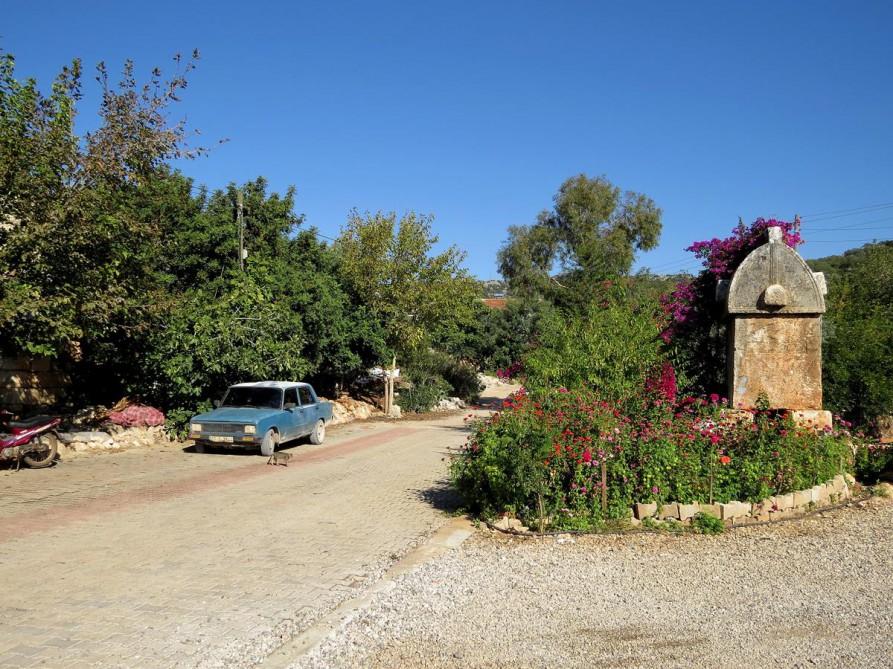 Steingrab in Üçagiz, der Lykische Weg, Türkei