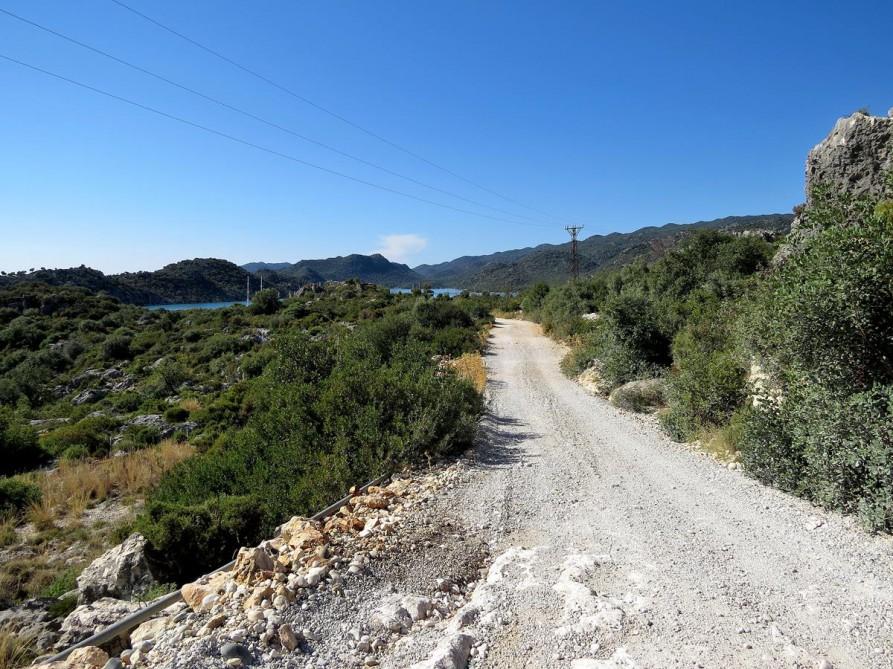 Weg nach Kaleköy, der Lykische Weg, Türkei