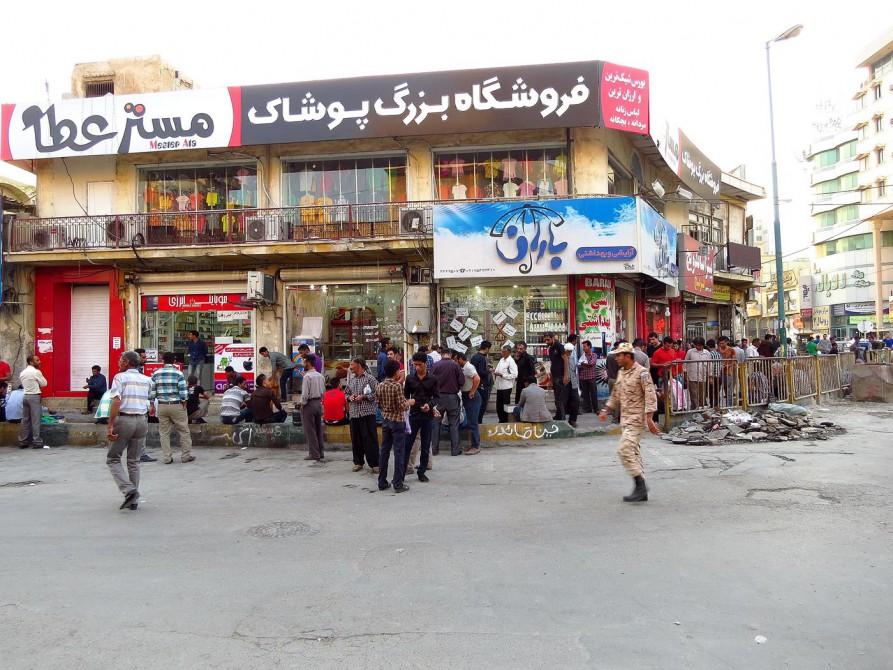 in den Straßen von Bandar Abbas