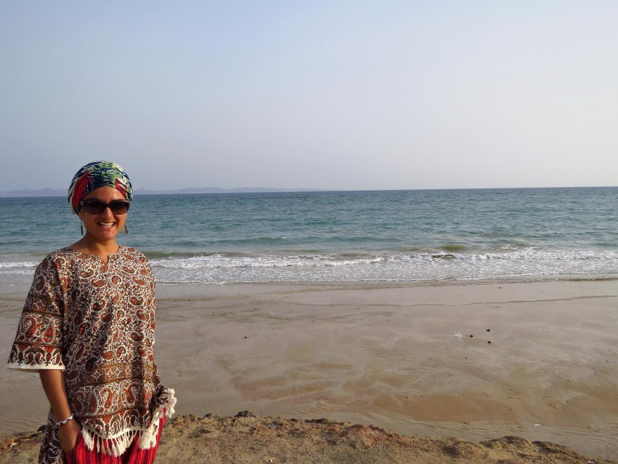 am Strand von Qeshm Town