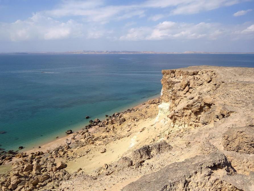 Klippen vor dem Persischen Golf