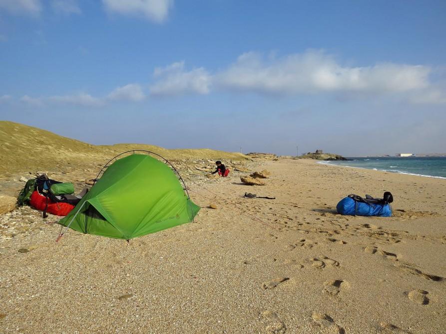 unser Zeltplatz am Persischen Golf