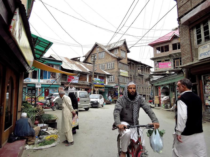 Straßenszene in Srinagars Altstadt