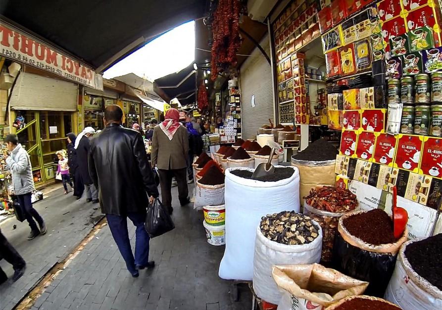 Trockenobst, Tee und Gewürze, Markt, Urfa