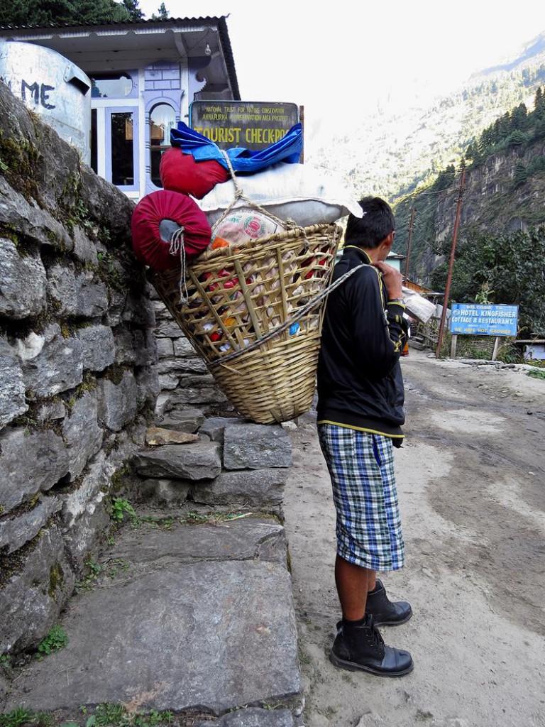 Träger in Dharapani