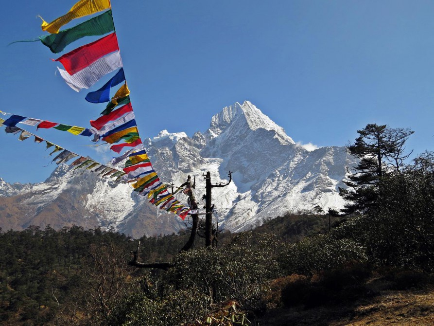 Kantega und Thamserku, Everest Base Camp Trek