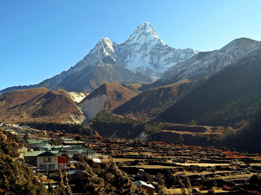 Pangboche, Ama Dablam, Everest Base Camp Trek, Himalaja