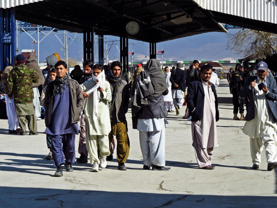 am Bahnsteig in Quetta, Pakistan
