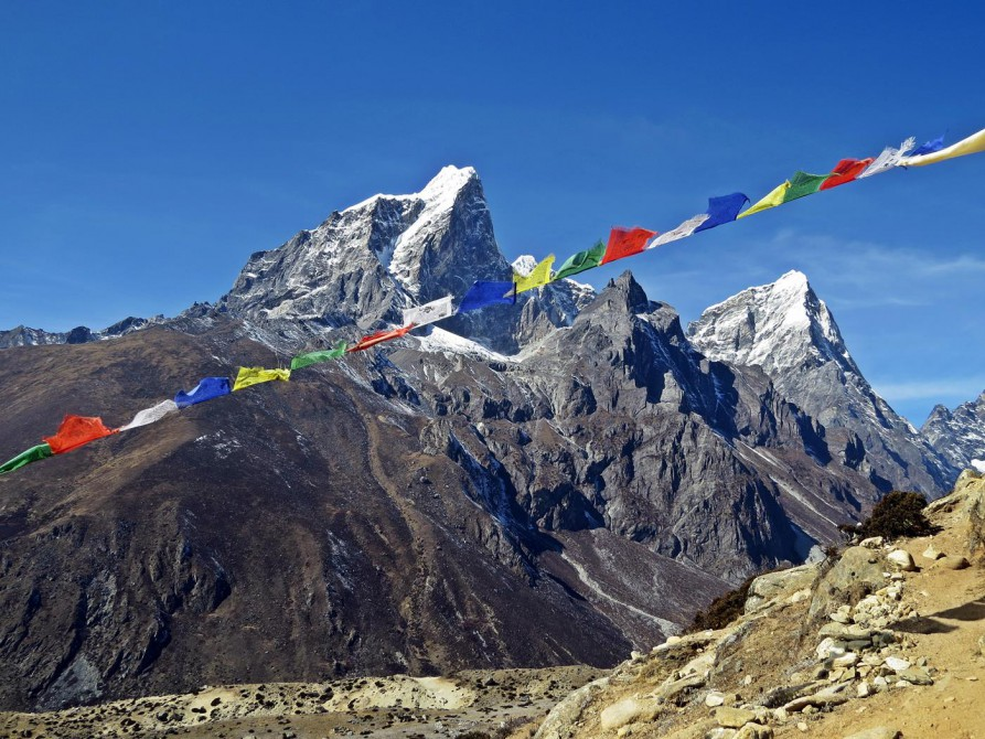 Taboche und Cholatse, Everest Base Camp Trek,