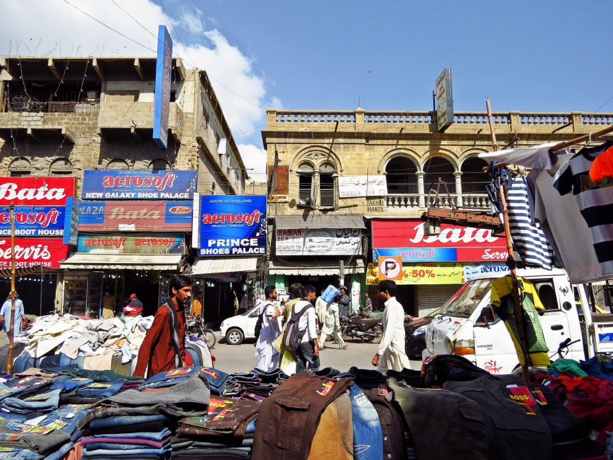 Straßenszene in Karatschi