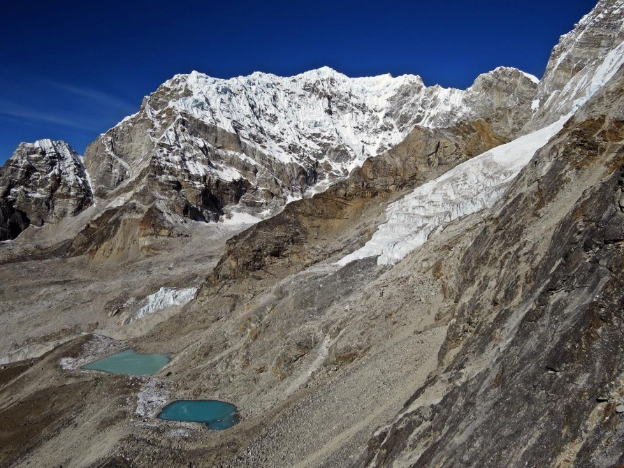 Gletscherseen hinter Kala Pattar, Everest Base Camp Trek, Himalaja