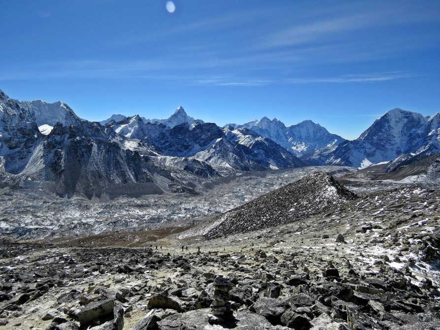 Bergpanorama, Everest Base Camp Trek, Himalaja