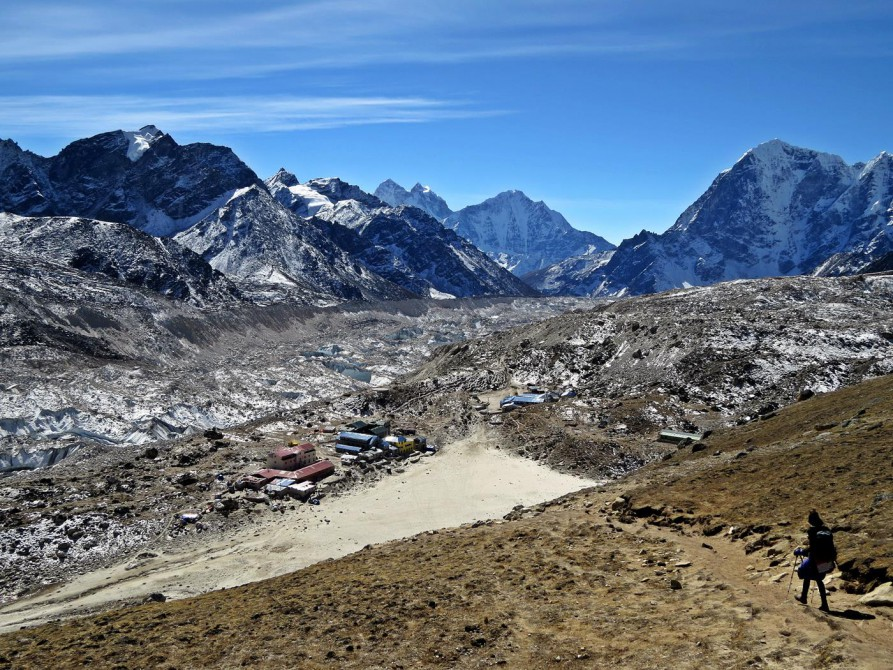 Gorak Shep, Khumbugletscher, Everest Base Camp Trek, Himalaja
