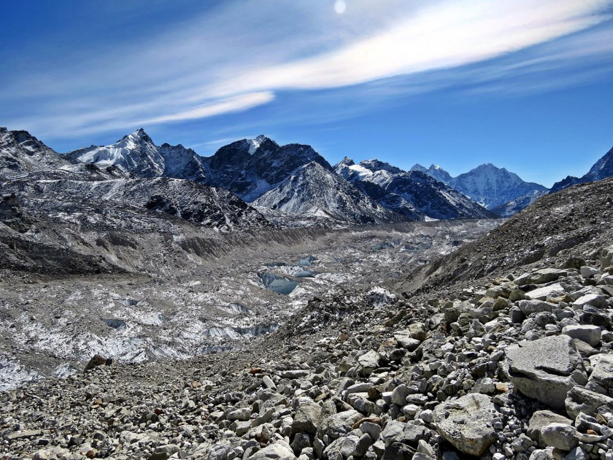 Khumbugletscher, Everest Base Camp Trek, Himalaya