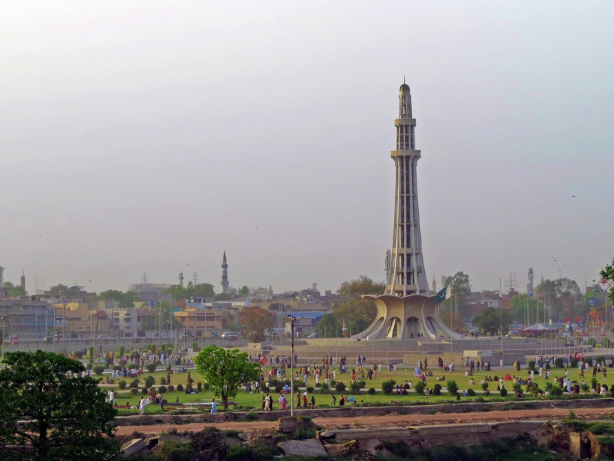 Minar-e-Pakistan, das Wahrzeichen Lahores