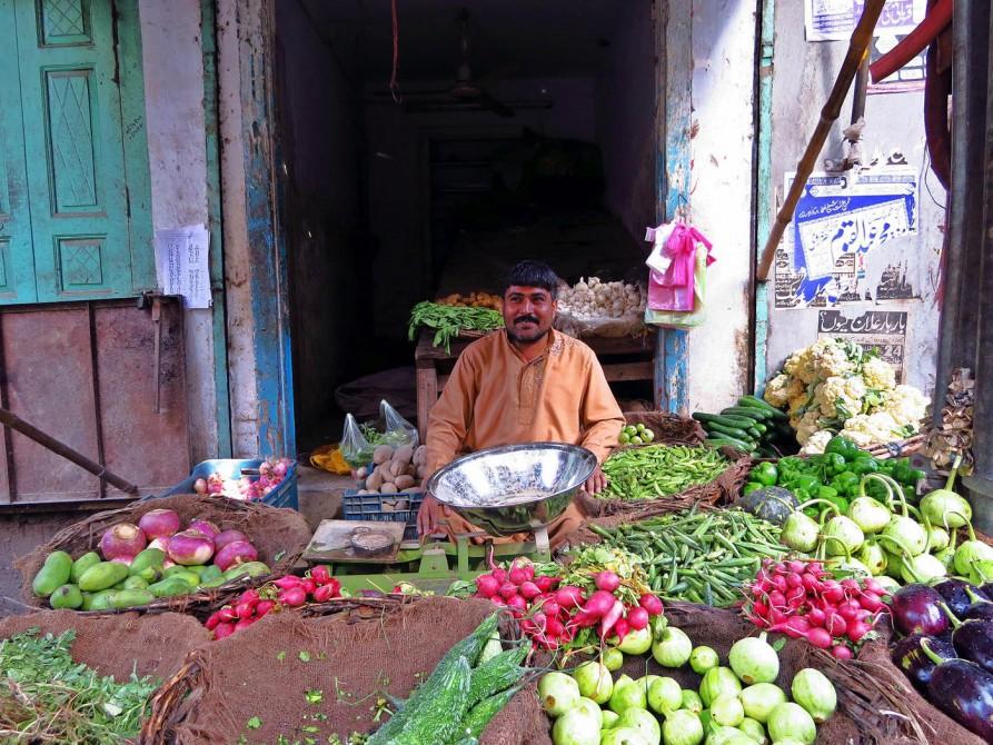 Gemüsehändler in Lahore