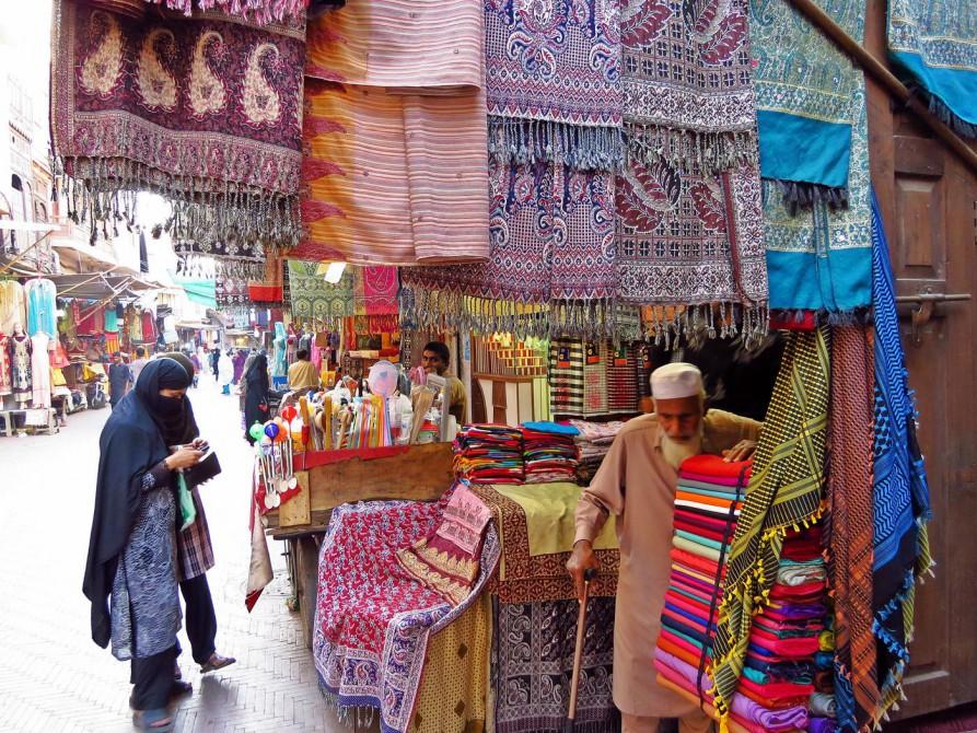 Marktstadt in der Altstadt Lahores