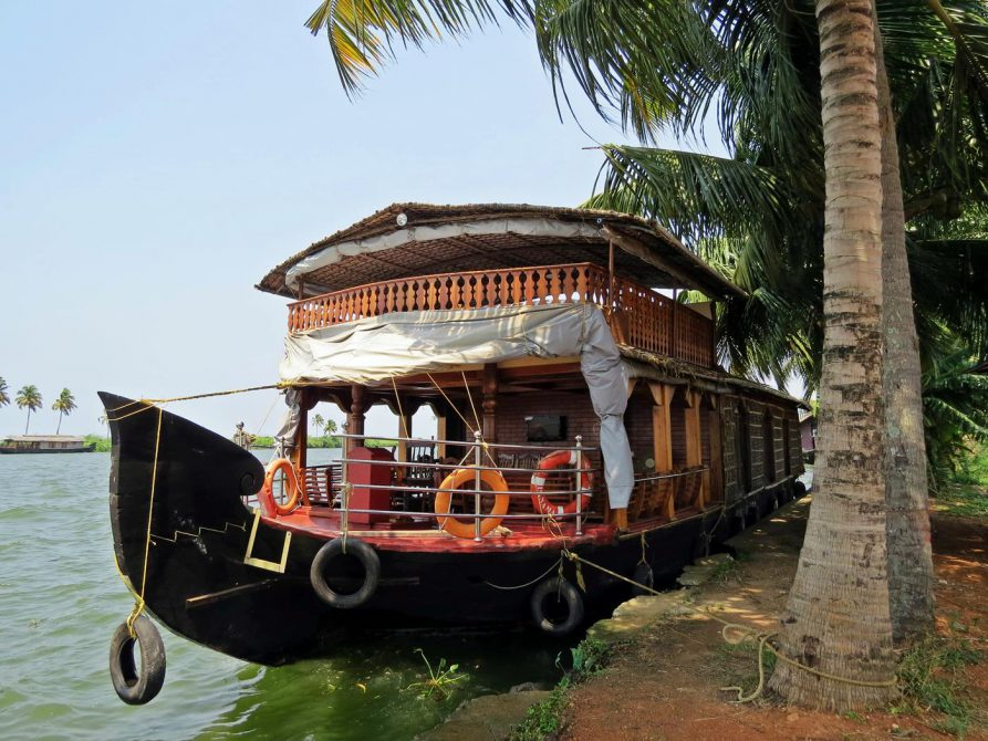Hausboot in den Backwaters