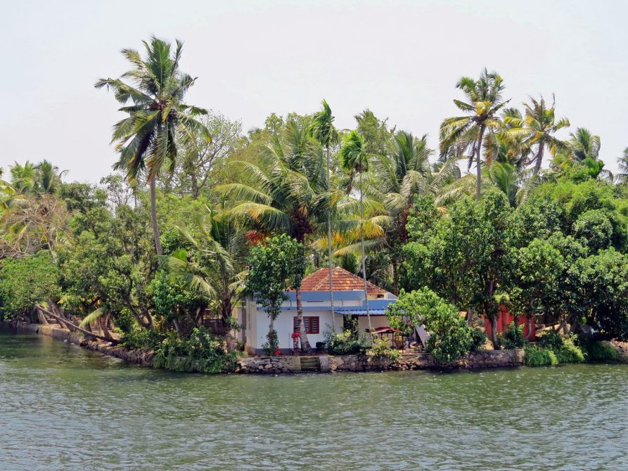 Wohnhaus in den Backwaters, Kerala