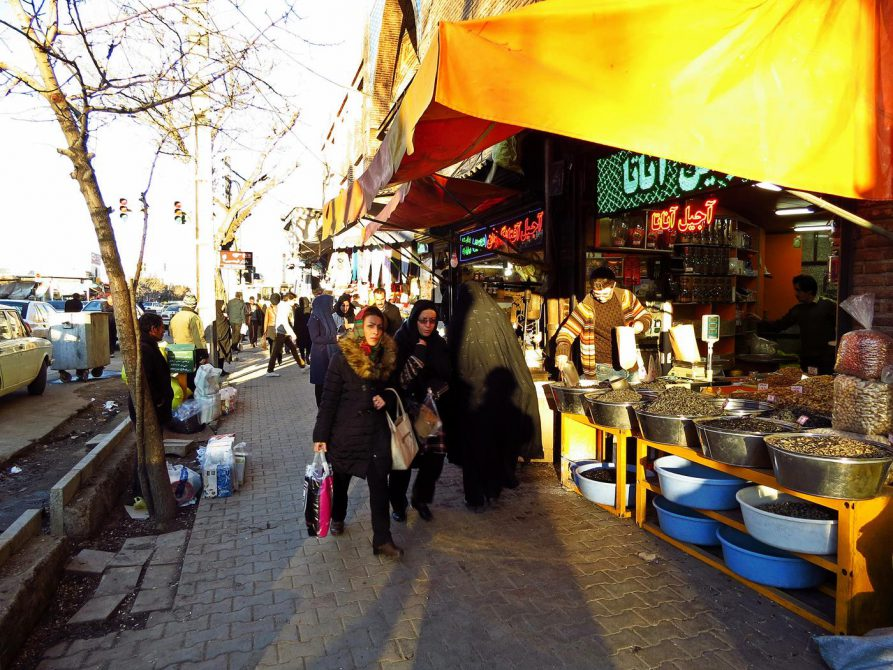 in den Straßen von Ardabil