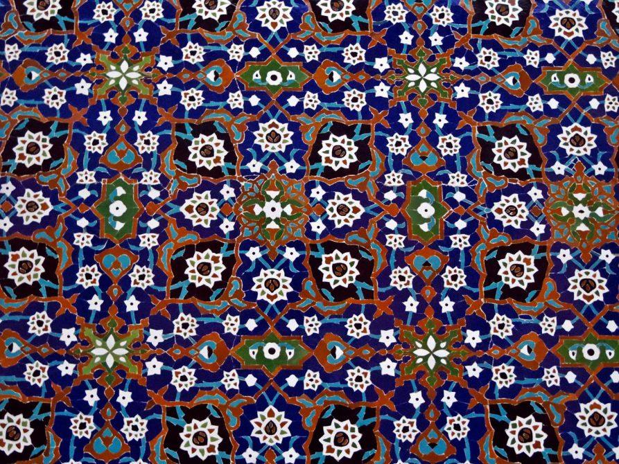 Mosaik aus zerbrochenen Kacheln