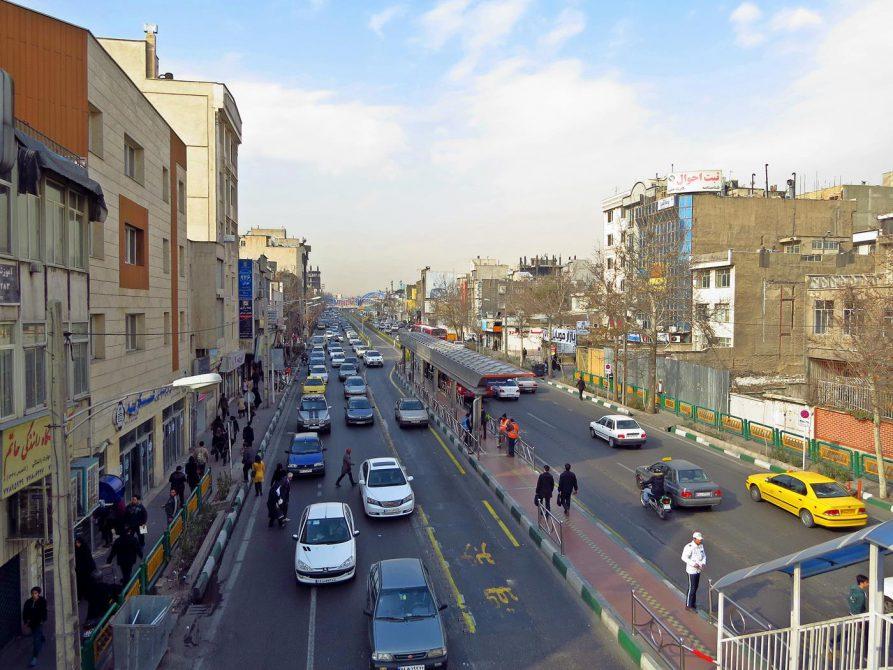 Straße in Teheran