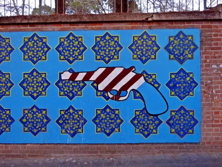 Graffiti an der ehemaligen US-Botschaft