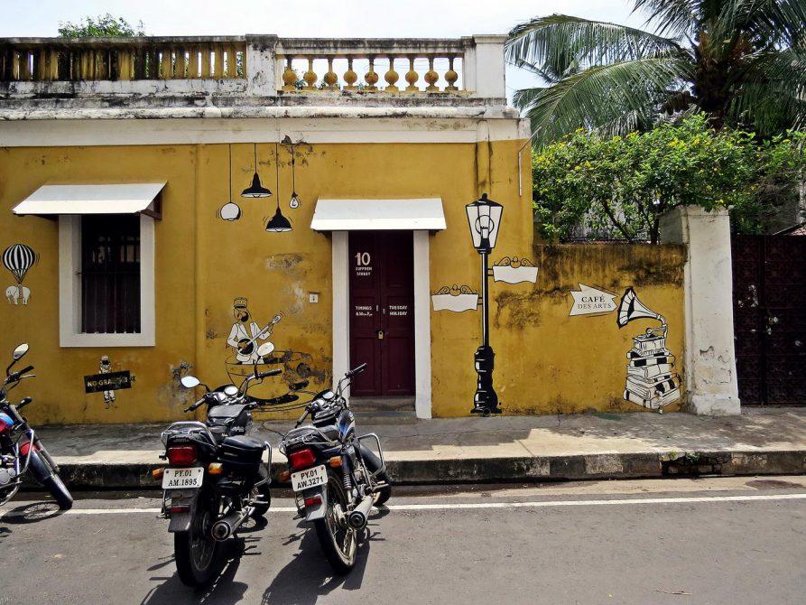 Straßenszenen in Pondicherry
