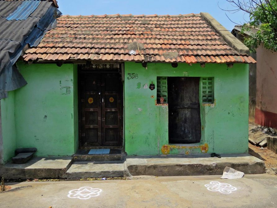 Wohnhaus in Pondicherrys Fischersiedlung