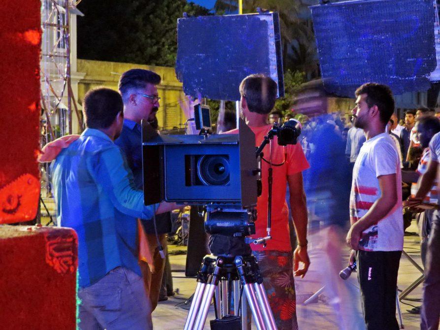 Kamera am Filmset von Kollywood