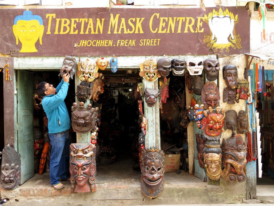 Maskengeschäft in der Freak Street