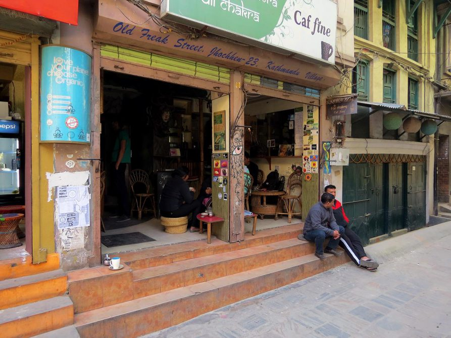 Straßencafe, Freak Street, Kathmandu