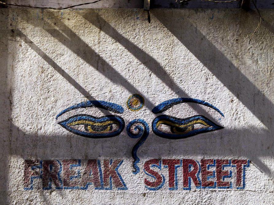 Augen der Weisheit, Freak Street, Kathmandu
