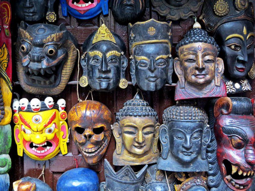 tibetische Holzmasken