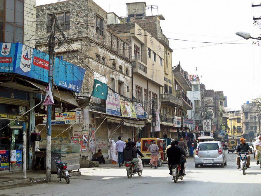 in den Straßen von Rawalpindi